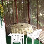 The porch on cabin 2