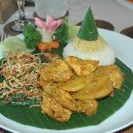 exemple de plat servi sur place