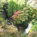上から見下ろした小沢又の滝