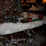 Alderbrook Christmas train in the lobby