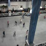 Ice skating in the atrium