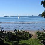 View from garden, Beachfront Resort, Whitianga, The Cormandel, NZ
