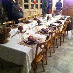 Un des decors de la table