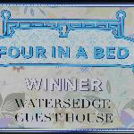"Winners plaque Channel 4 ""Four in a bed"" Best value for money B&B"