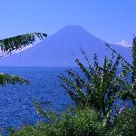 view of one of the volcanoes from villa sumaya