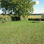 Blick in Garten und Landschaft