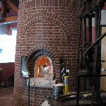 The glass blowing demonstration area