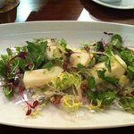 lovely blue cheese ,pear and walnut salad