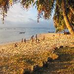 coucher de soleil de la plage