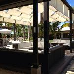 outdoor bar by lobby, casa de campo