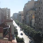 view of Mohammed V Avenue from Hotel Majestic rooftop terrace
