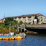 Inn at Seaside and bumper boats across on the river