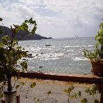vue de la terrasse du restaurant