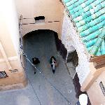 Blick in die Gasse am Riad