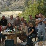 The back patio with the Kern River in the background.