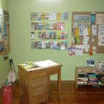 The info area