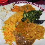 A plate of varied and exquisitely delicious food