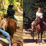 In the summer, ride horses or rent a bike.