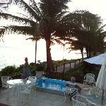 terraza, hidromasaje, océano