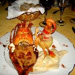 The unbelievable Lobster severed at our outside Romantic Dinner