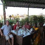 guests visiting the restaurant after the Dasara procession