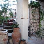 un détail de la belle terrasse