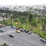 vor dem Hotel mit Blick über Sousse