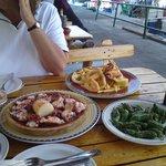 Fantastic squid, octopus and pimientos de padron.