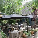 Jardin du restaurant de l'Hotel de l'Abaye