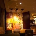 Bright interior of Starbucks