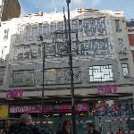 HMV building on Oxford Street