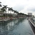 infinity pool at roof top 57th fl (side view)