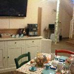 Breakfast room with internet corner