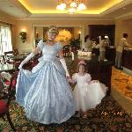 With Cinderella in the Kingdom Club Lounge