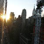 con vistas al Empire State, lástima de la grua que la tapaba