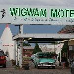 Check-in is at this cute little office...then off to your wigwam!  There are a few old cars sitt