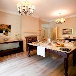 Dining Room with Continental Breakfast set up