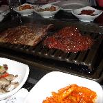 BBQ at Korean restaurant two doors from hotel