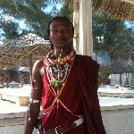 il Masai di guardia alla spiaggia!