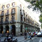from la rambla view of the hotel
