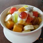 Fresh fruit with muesli a great way to start the day