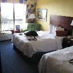 7th floor room with double beds