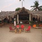 outside bar and huts