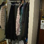 Roomy closet -- a week's worth of clothes fit easily