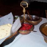 complimentary dipping set with 3 tasty sauces