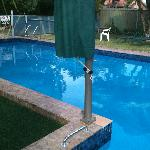 spotless   clean pool  an dthey  supply towels  fo r  swimming