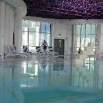 Hilton Baynunah hotel indoor pool Abu Dhabi