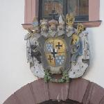 coat of arms above the entrance from the courtyard