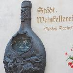 stone bottle at the façade