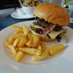 Beef & Bacon Burger + Chips